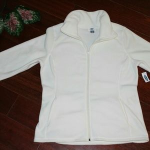 NWT White, Old Navy Fleece jacket, size: L